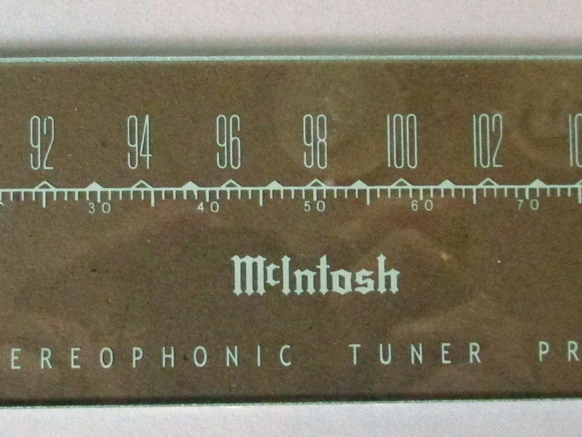 Mcintosh  MX-110 or MX-110Z Front display glass & Lettering or Metal lettering