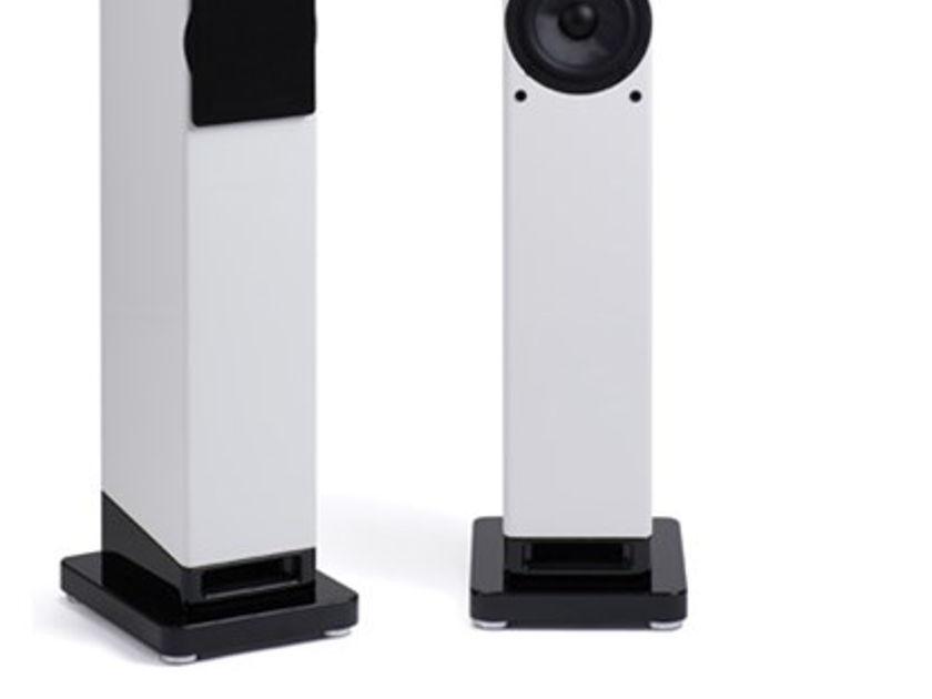 Scansonic M6 Black Demo Column speakers w/Ribbons-Raidho DNA
