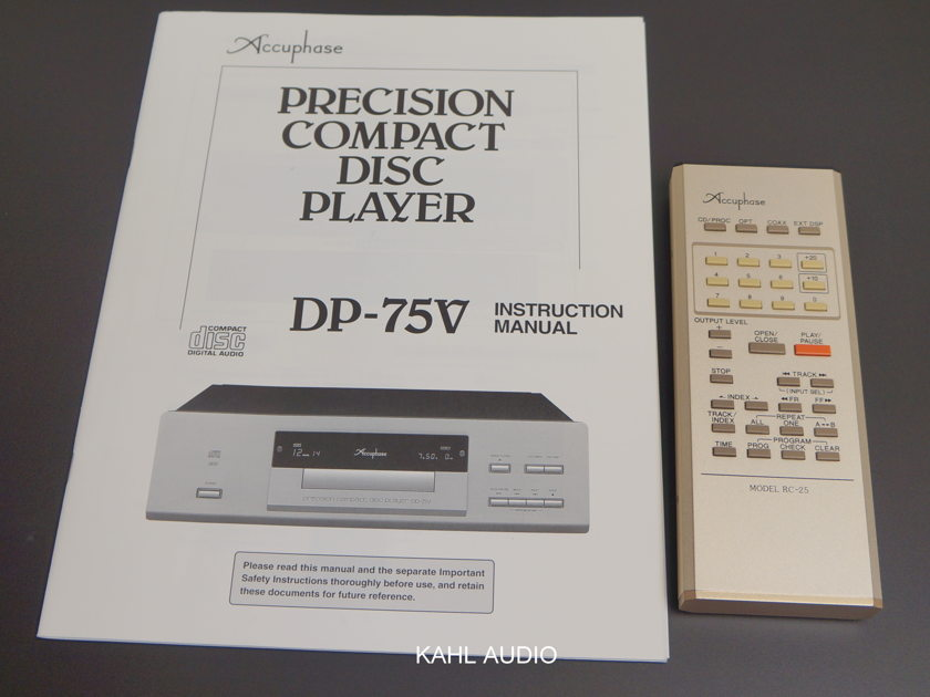 Accuphase DP-75v SACD/CD player. Stereophile Recommended. $11,500 MSRP.