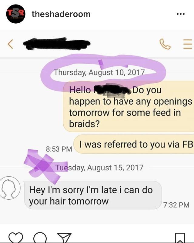 hair stylist always late