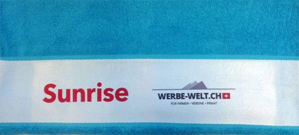 Handtuch mit Firmen logo bedrucken lassen