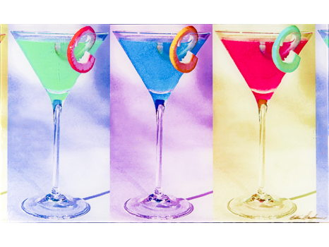 "Eddie Sanderson ""Andy Warhol Martini Glasses"""