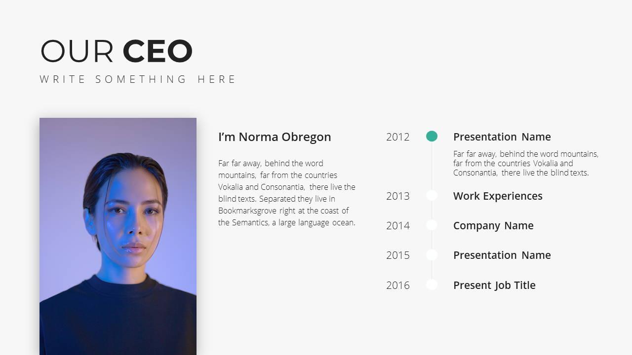 Minimal X  Company Profile Presentation Template Founder