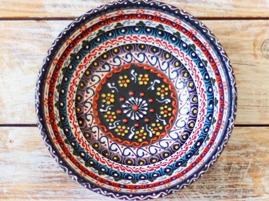 Керамическая пиала разноцветная