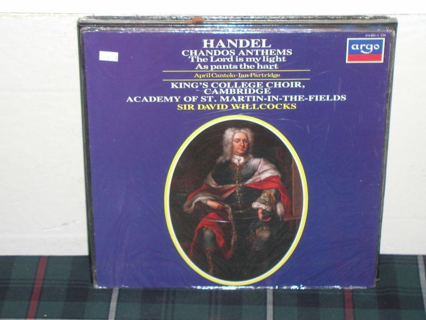 Willcocks/AoStMitF - Handel Chandos UK argo/decca 414-294