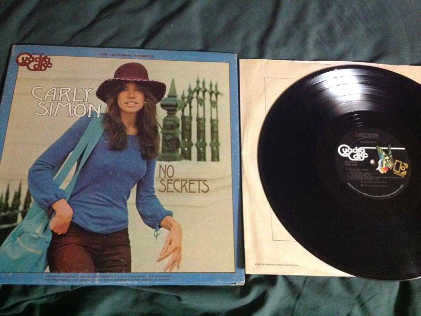 Carly Simon - No Secrets Cd-4 Quadradisc LP NM