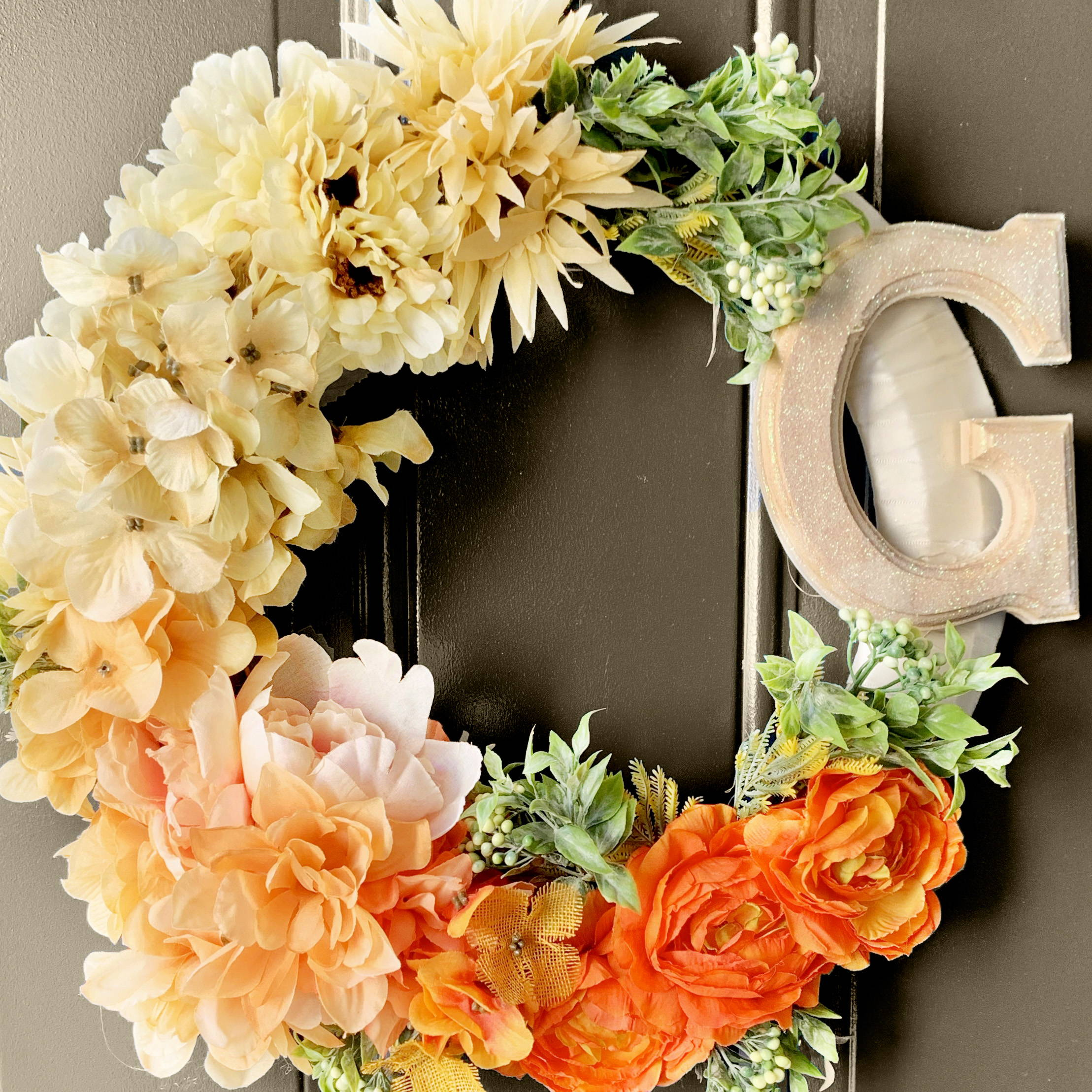 Handmade Holiday Floral Wreath