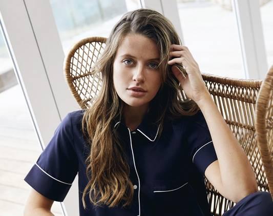 a woman wears pajama