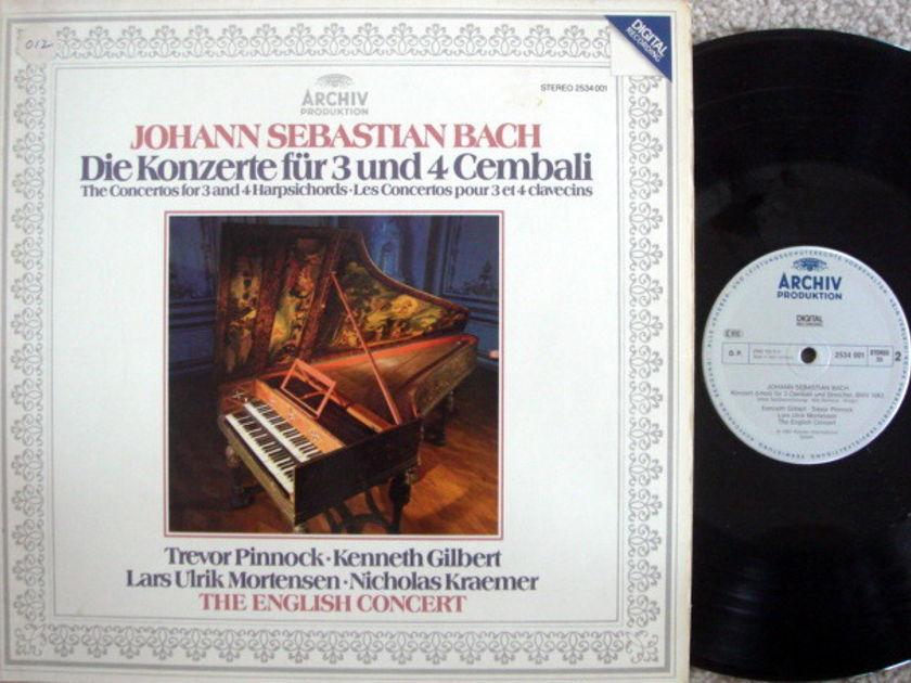 Archiv Digital / PINNOCK, - Bach Concertos for 3 & 4 Harpsichords, MINT!