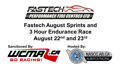 August Sprints and 3 hour Enduro - August 22 & 23