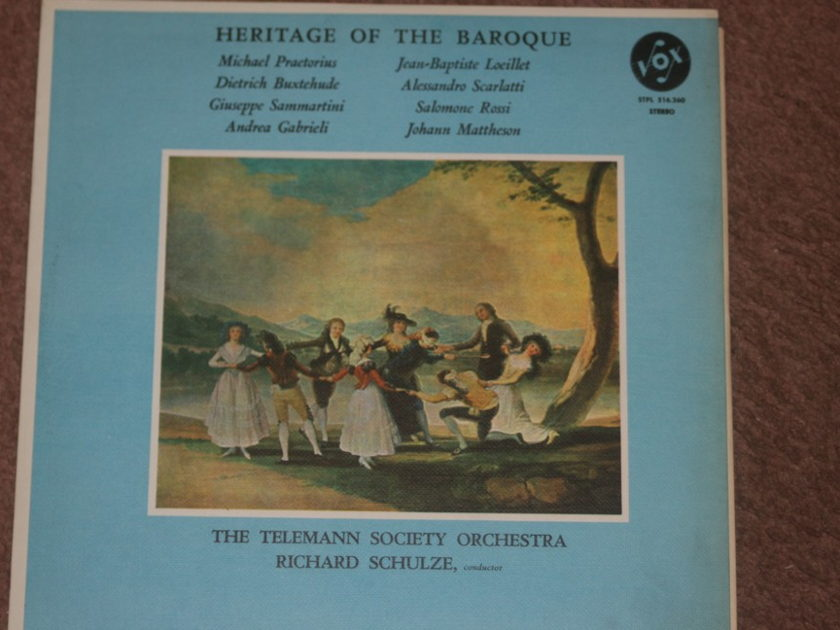 The Telemann Society Orchestra Richard Schulze  - Heritage of the Baroque STPL 516.260
