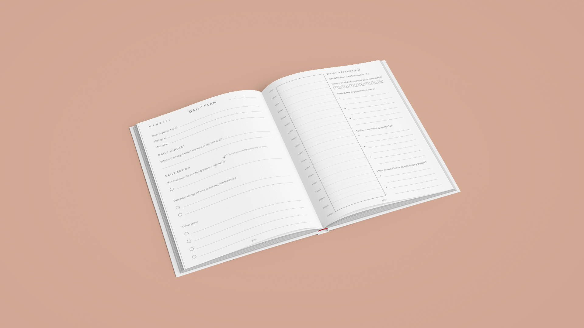 life map daily planner for productivity and goal setting