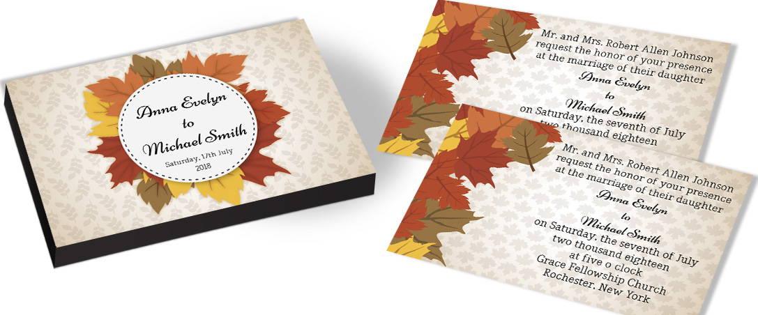 Leaves Theme Wedding Invitation – CHOCOCRAFT