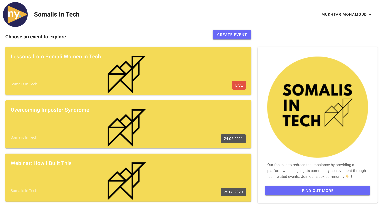 SomalisInTech Homepage in Newny