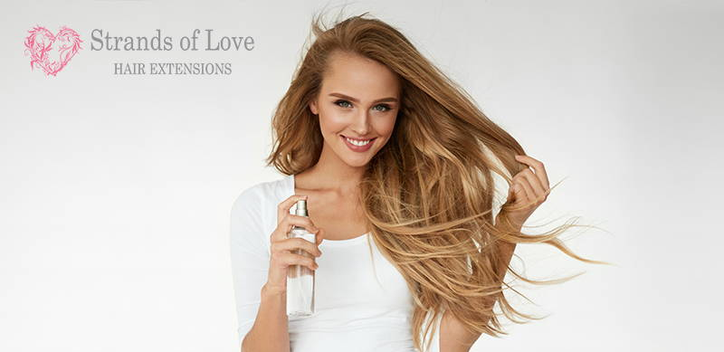 Strands Of Love Aftercare FAQ Image Girl With Hairspray