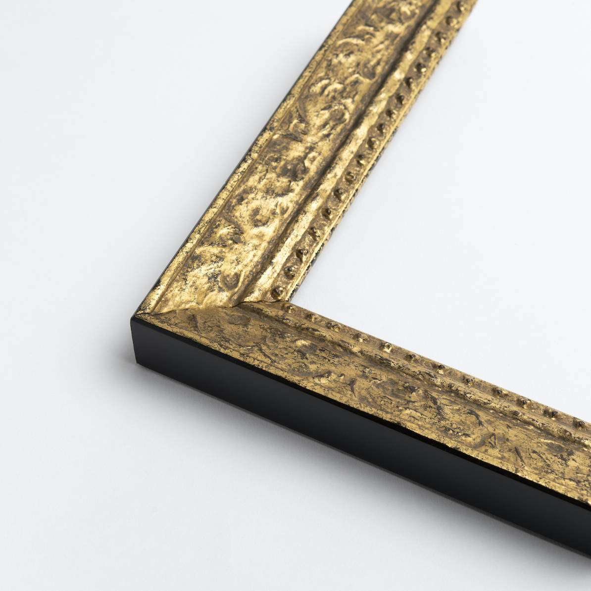 TV-Mirror Patterned Gold Frame by FRAMING TO A T