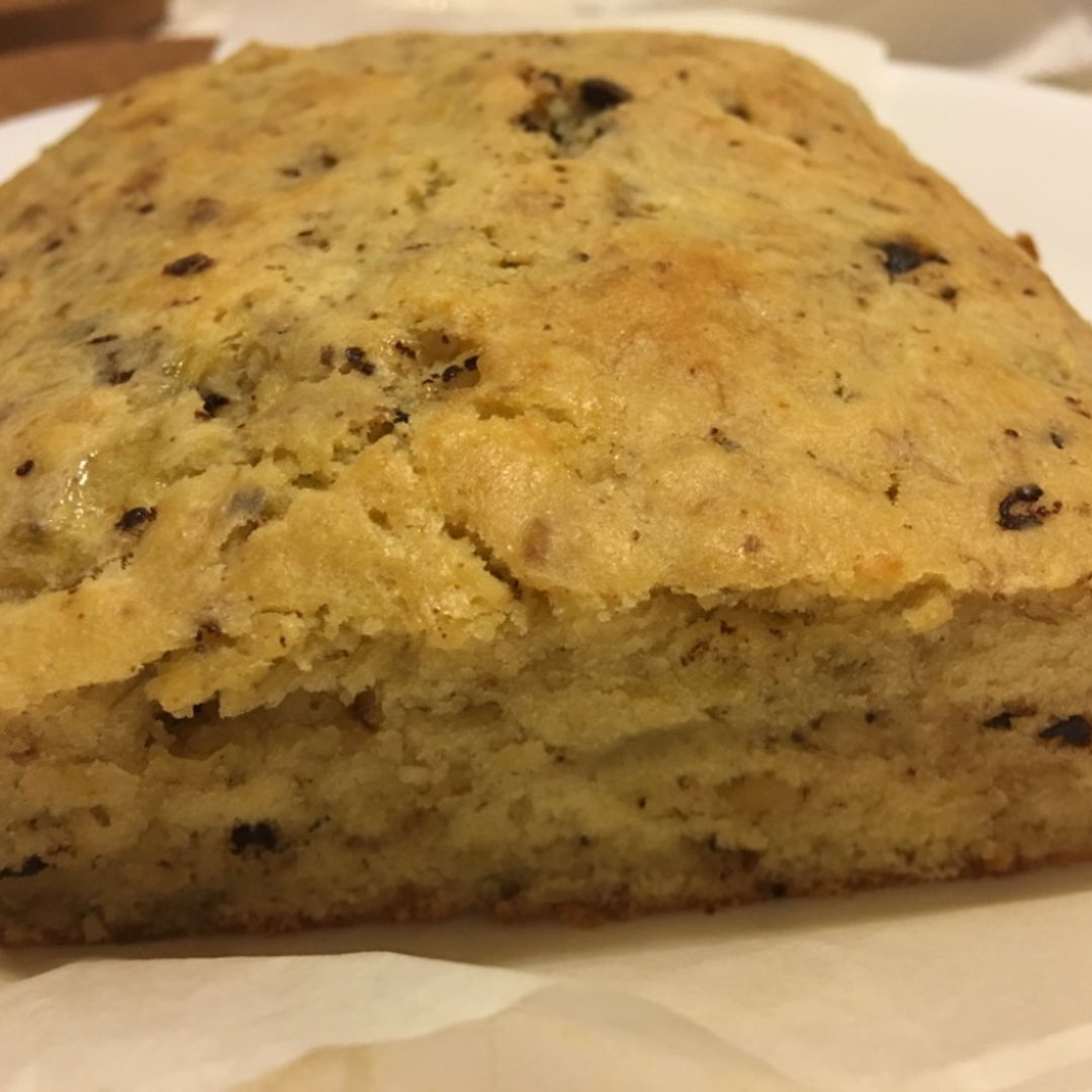 Never had luck baking banana bread and been failing miserably . This recipe is a hit! Though  it doesn't has nice brown crust but it's yummy . I've reduced the amount of sugar and added chopped walnuts and chocolate chips .