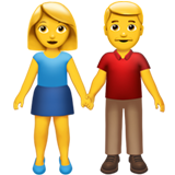 Woman and man holding hands 1f46b