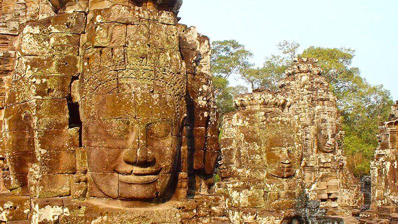 Head statues, Bayon, Angkor, Cambodia