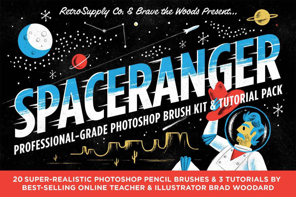 Illustrator brushes and tutorials by Brad Woodard