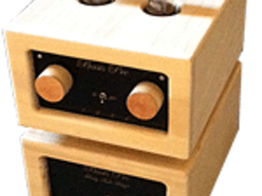 Purity Audio Design Basis MKII Class A 6SN7 preamp twin chassis hardwood design
