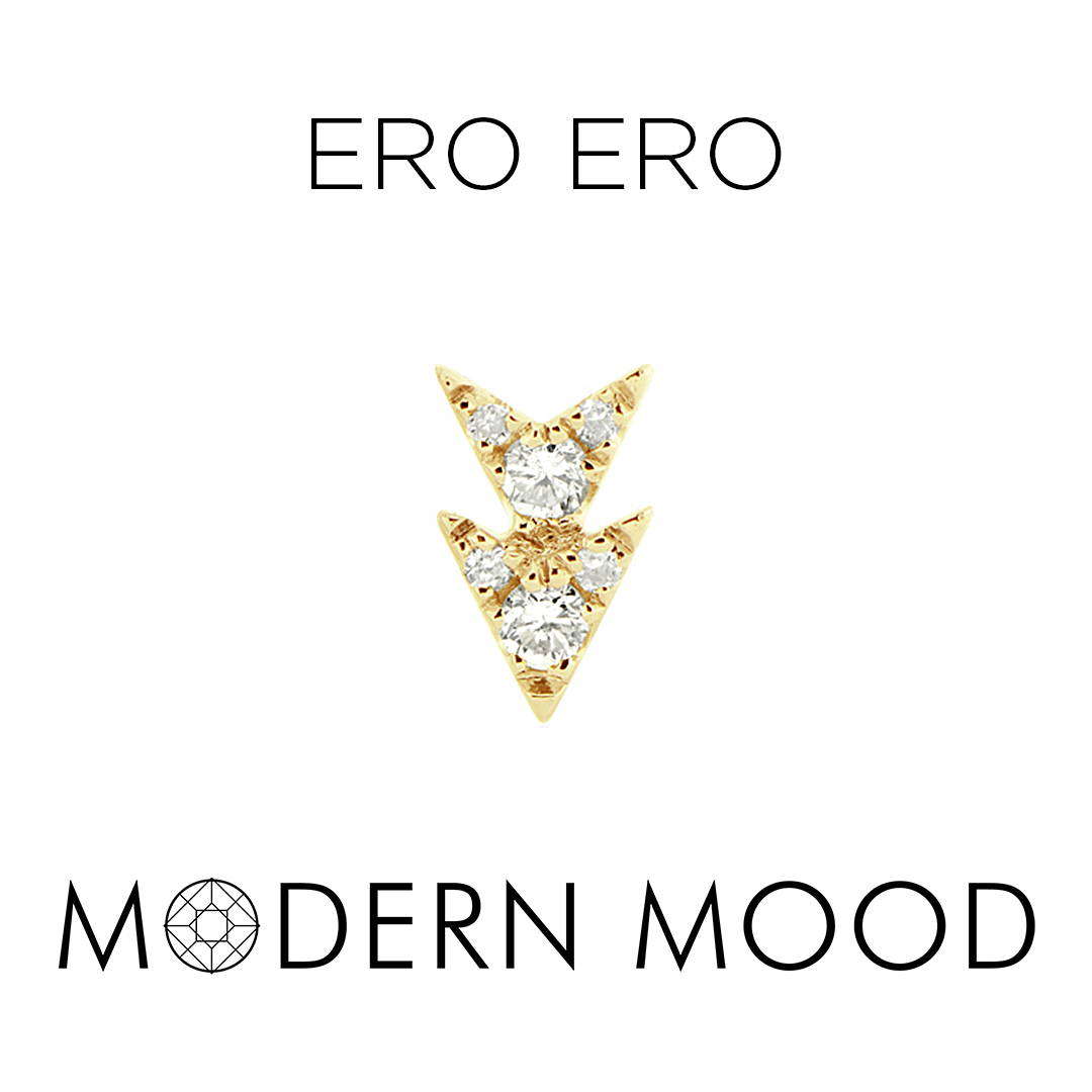 double arrow ero ero diamond piercing jewelry