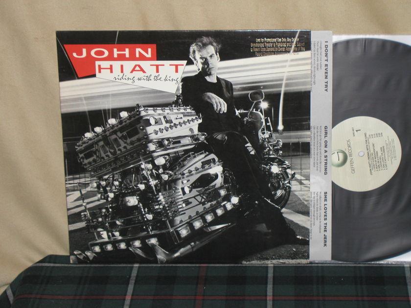 John Hiatt - Riding With The King W/Gold embossed promo stamp NM