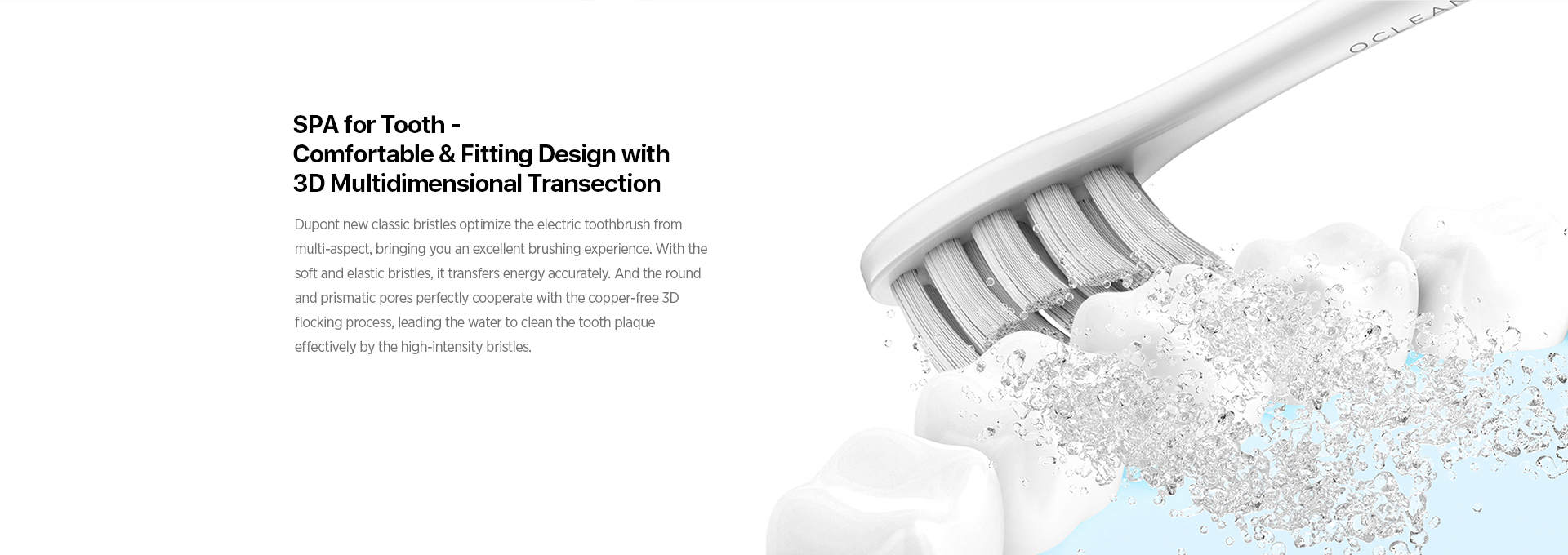 SPA for tooth-comfortable&Fitting Desigh with 3D multidimensional transection