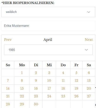 Eingabe Datum