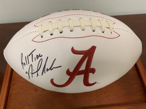 Nick Saban Autographed Alabama Football