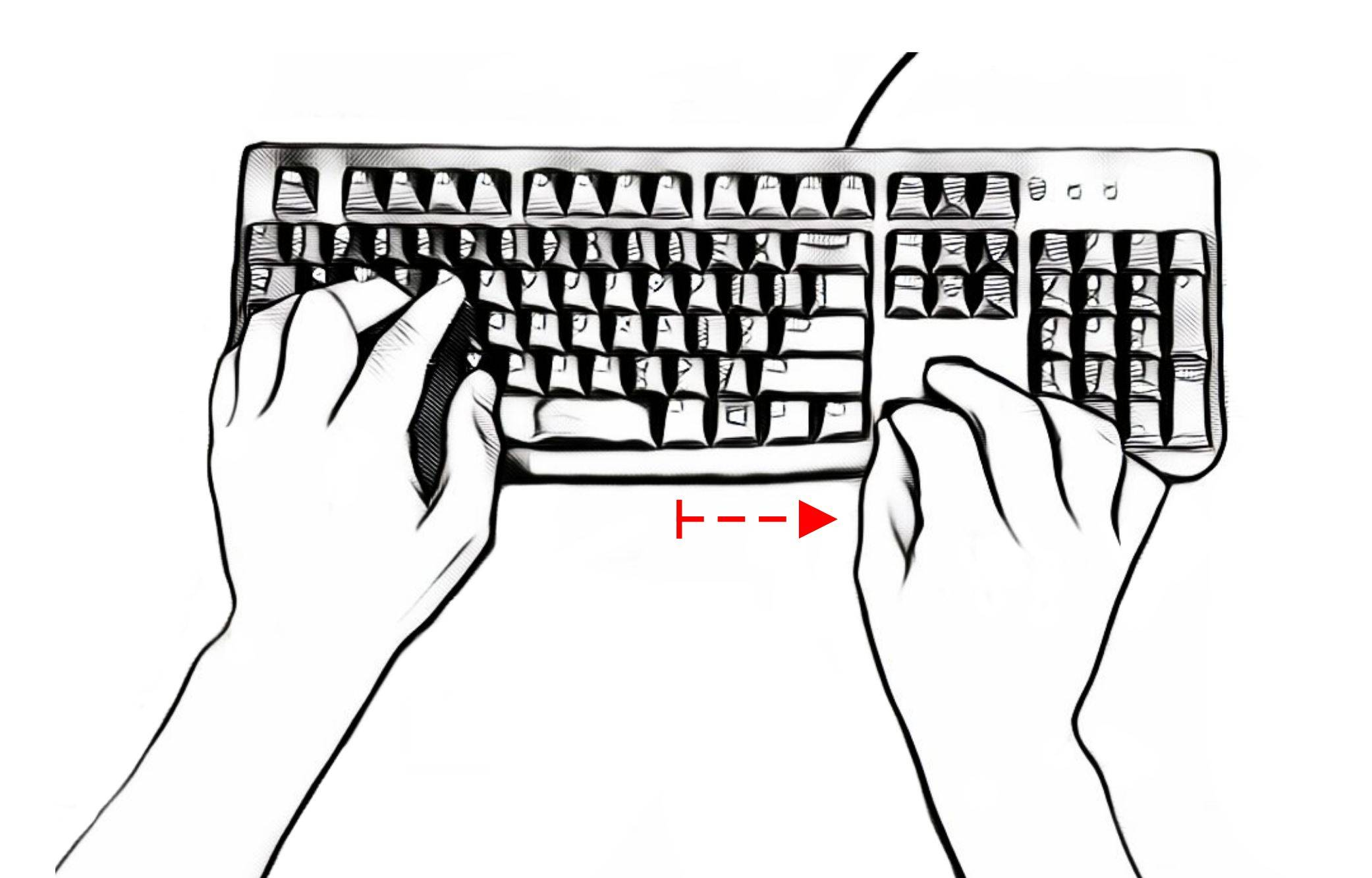 standard keyboard navigation keys
