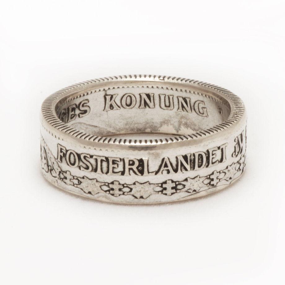Кольцо из монеты - Швеция 1 крона