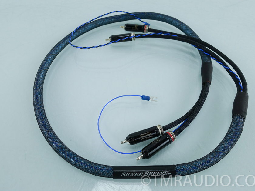 Silver Audio Silver Breeze RCA Cables 1.25m Phono Interconnects (9314)