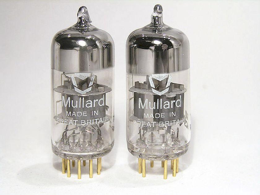 Mullard 6922 / E88CC / CV-2493 brand new pair in Swedish military matched set styrofoam boxes