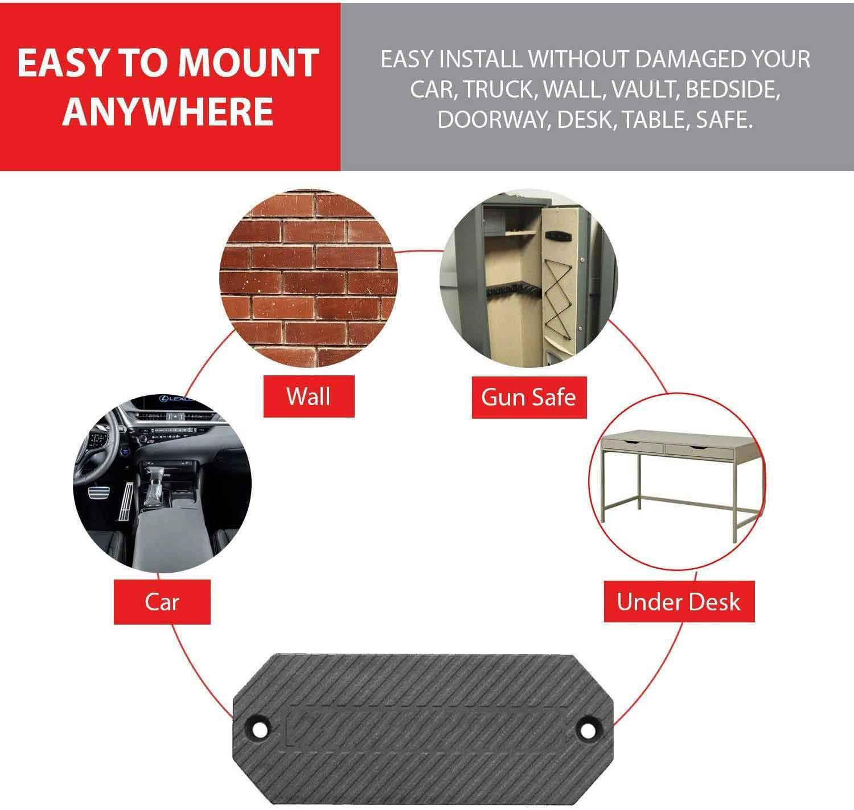 versatile gun mount for car | under desk gun mount | gun mount on wall