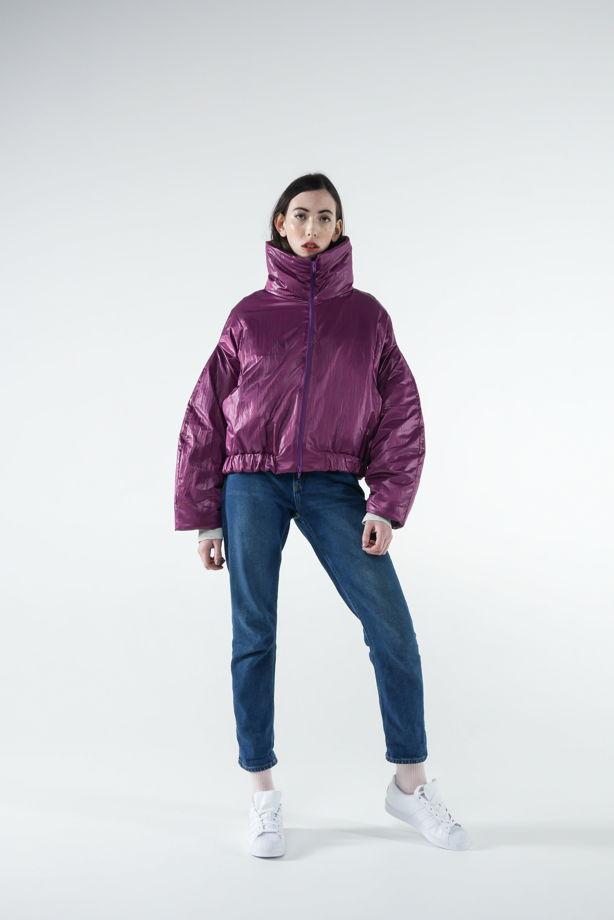 Утепленная куртка с застежкой-молнией