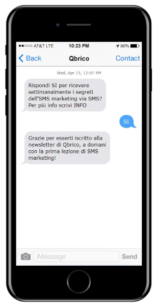 sms marketing qbrico