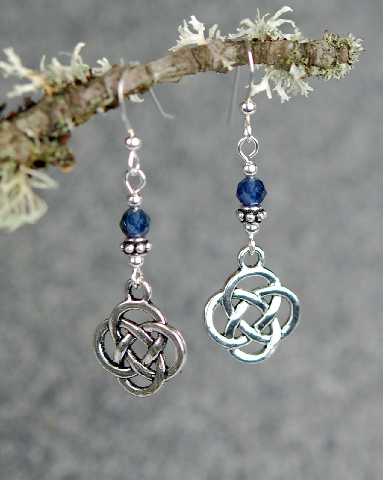 The Celtic Jewelry Studio Faceted Sapphires with Medium Celtic Knots Celtic Festival Online