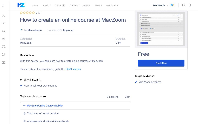 Maczoomcourses