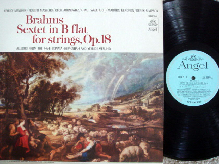 EMI Angel Blue / MENUHIN, - Brahms Sextet no.1, MINT!