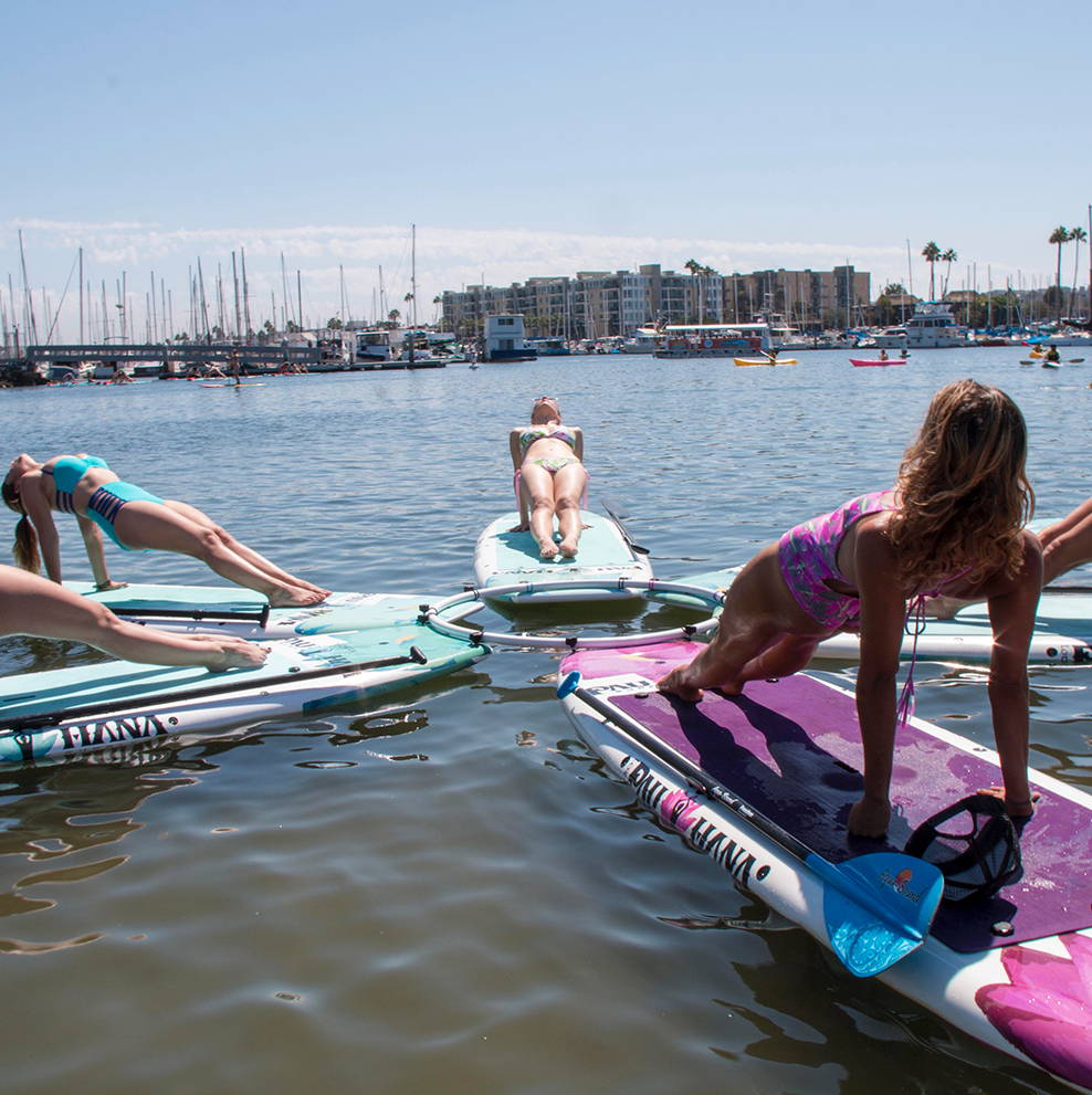 Yoga Practice at Venice beach in marina del Rey