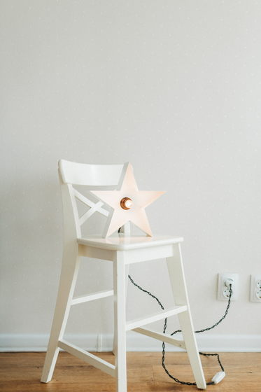 Светильник с ретро лампой Звезда