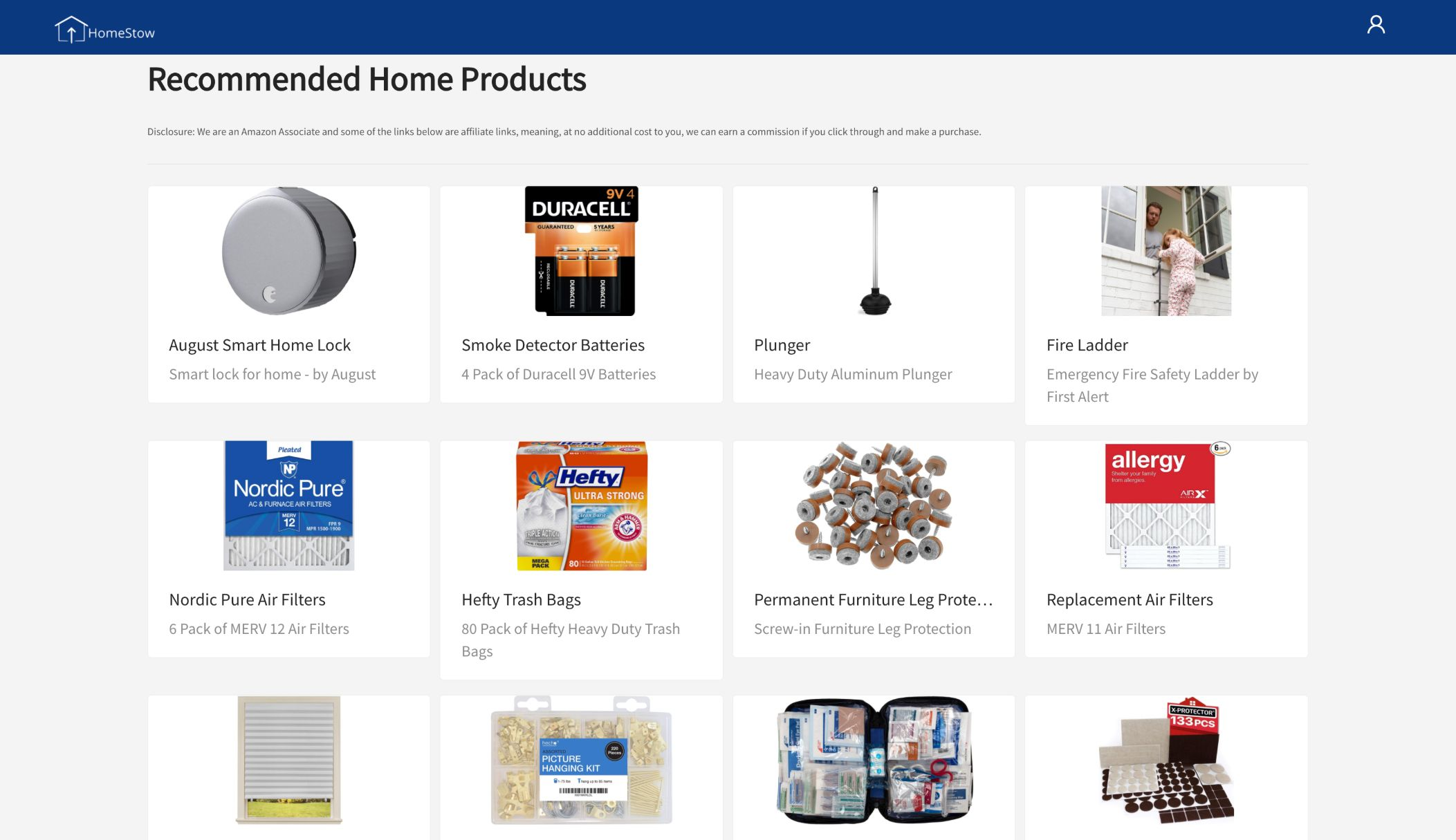 HomeStow recommended products