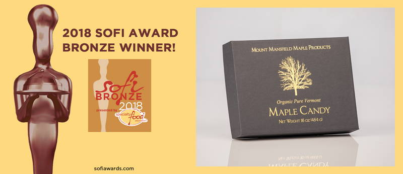Mansfield Maple Silver Sofi Award Organic Pure Vermont Maple Candy
