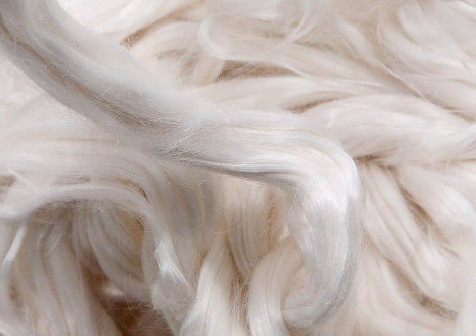 Tencel fibers close up