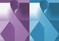 Purple Blue Ribbons