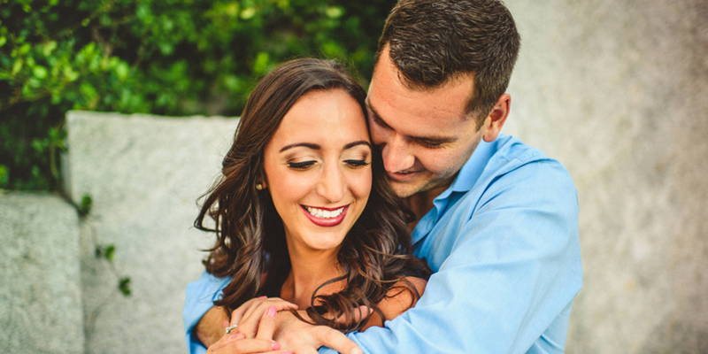 Romantic Uptown Engagement Shoot