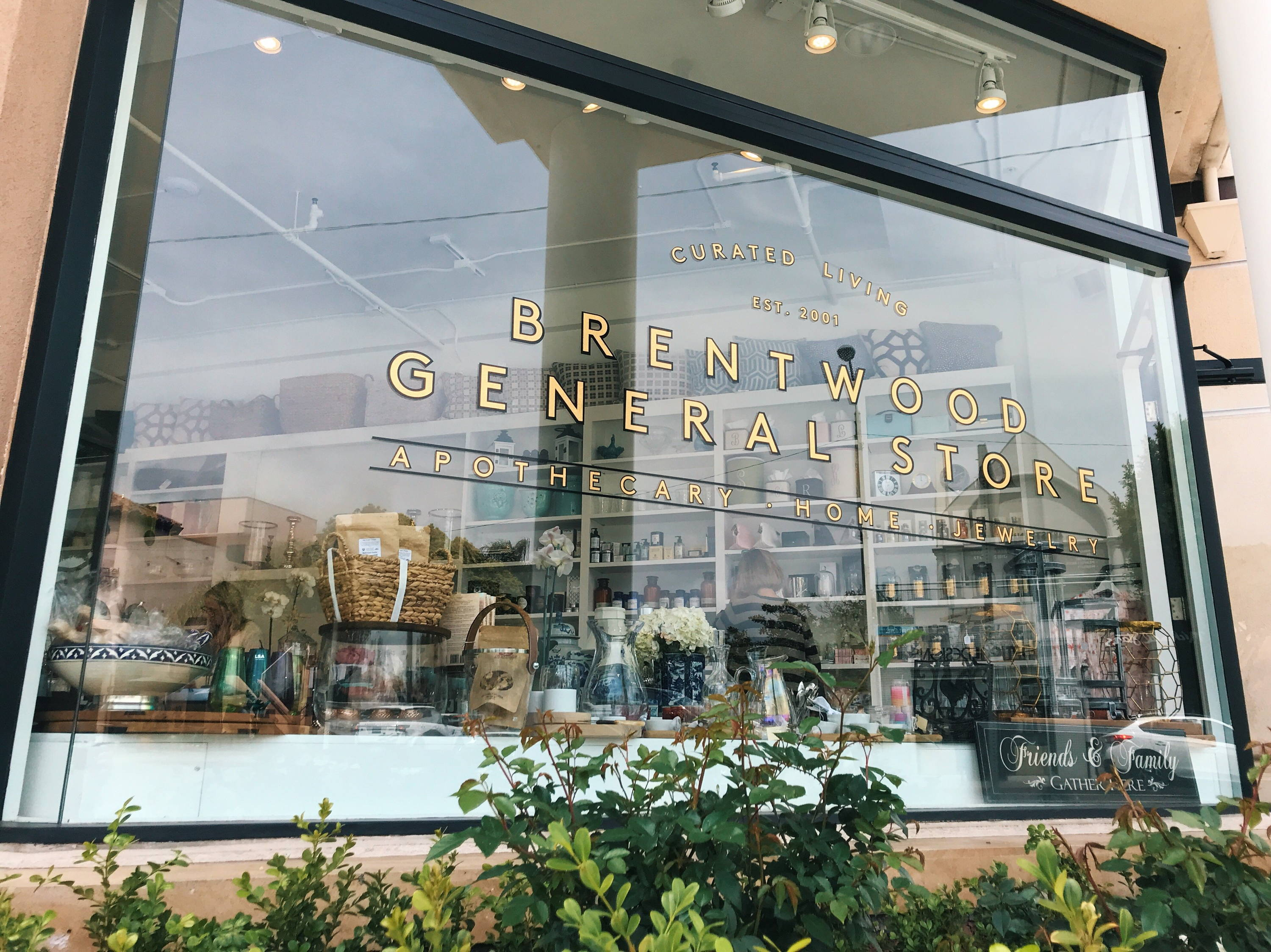 Brentwood General Store Exterior Window Signage