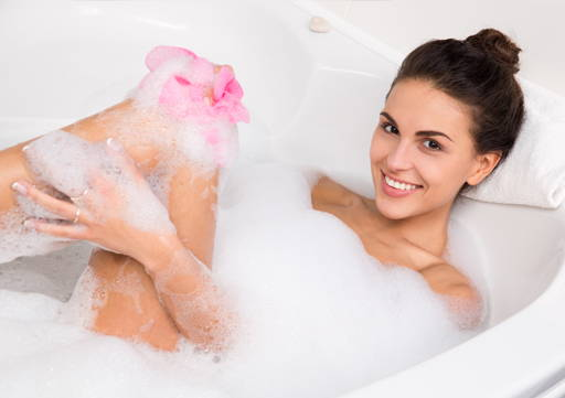 Apply the scrub wash on your skin, gently massage until you get foam and rinse with warm water