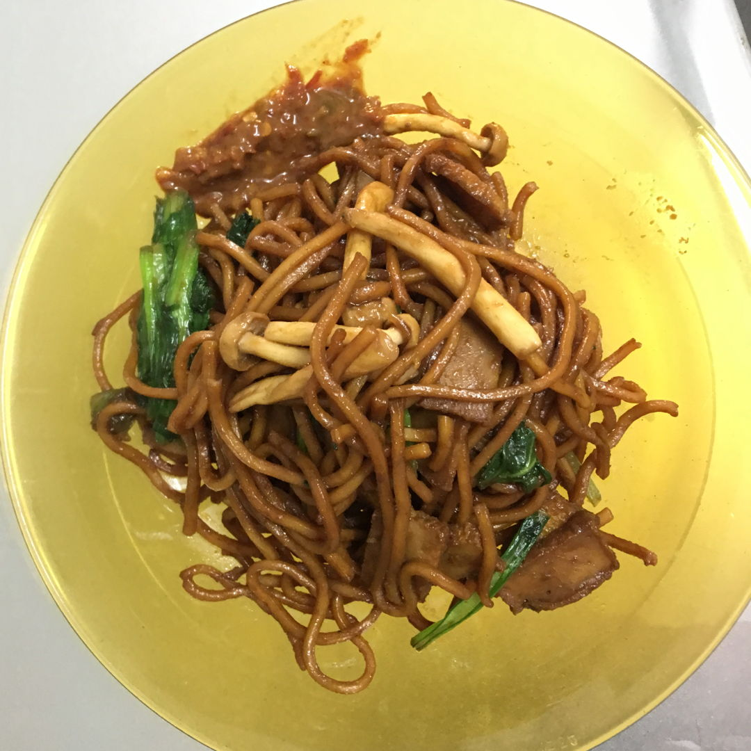 April 29th, 20 - Simple fried yellow noodle .